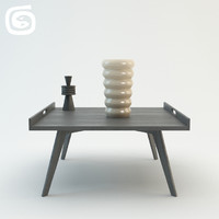 3ds max coffee table vases