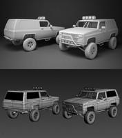 3d model 4x4 truck