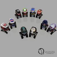 10 Formula one 2014 Helmets