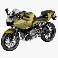 bmw motorcycle r1200 s 3d model