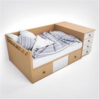 3d model hd lineas taller bed