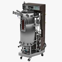 3d model bioreactor bioflo 5000