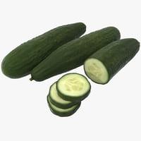 3d model cucumber 3