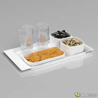 Alessi Programma 8 Tray Set with Snacks