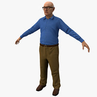 Elderly Man Rigged 2 Version 2