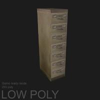 3d file cabinet model