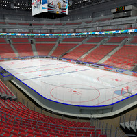 3d model of ice hockey arena
