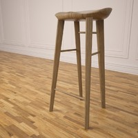 3d tractor stool