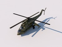 mil mi-24 hind helicopter 3d c4d