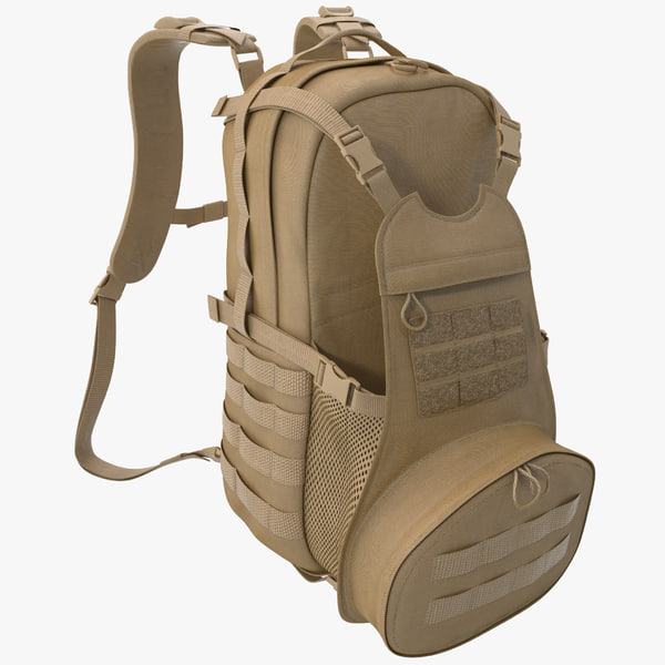 3d model of Military Backpack 3 by 3d_molier: 3d_molier 3d
