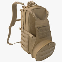military backpack 3 3d max