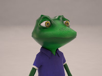 3d model of cartoon frog