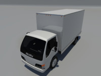3d isuzu npr box truck