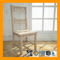 3d model wood chair 01