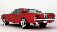 3ds max mustang 1966 fastback