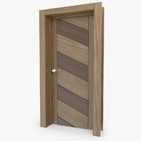 c4d wooden door 2