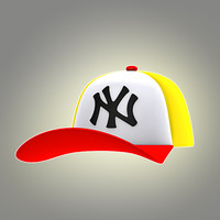 3d model of cartoon cap