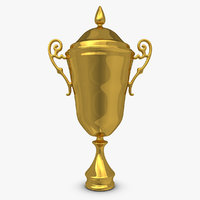 3d model trophy cup 1