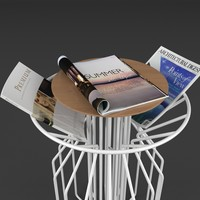 table magazines real 3d max