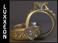 diamond engagement ring 3d obj