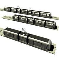 3d max modular tram