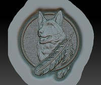 3d model indian-style wolf