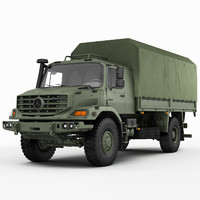 3d model zetros military 4x4
