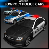 3d generic police cars