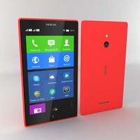 nokia xl red 3d model