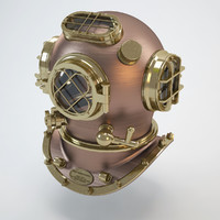 3d diving helmet