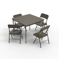 3d card table chairs