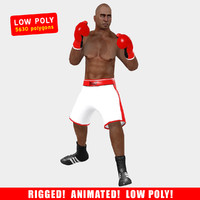 3d model rigged boxer