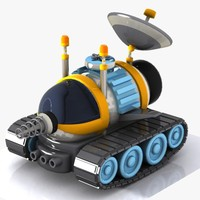 cartoon space car 3d obj
