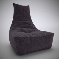 3ds max rock lounge chair