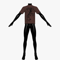 3d model of t-shirt mannequin