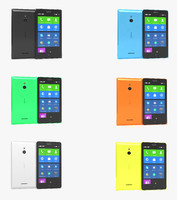 3d nokia xl colors model