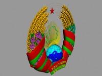 3d model emblem belarus