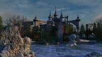 abandoned castle 3d max