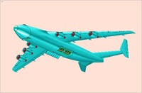 An-225 Mriya Strategic Cargo Aircraft Solid Assembly Model