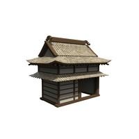 modular asian building 3d x