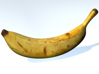 dessert banana fruit 3d model