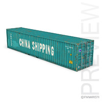 3ds max 40ft shipping container china