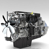 3ds max car engine