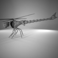 helicopter dragonfly fly 3d max