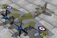 haviland hornet fighters 3d max