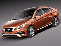 3d 2015 hyundai sonata model