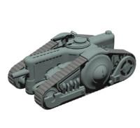 dieselpunk tank 3d fbx