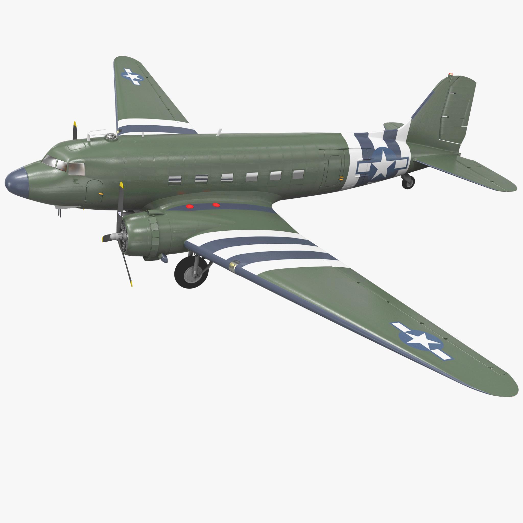 Military Transport Aircraft Douglas C-47 Skytrain_1.jpg