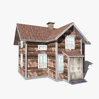 wooden old house 3d model
