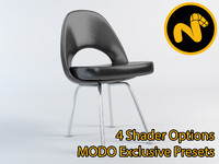 saarinen executive sidechair 3d model